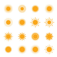 vector orange symbol of sun
