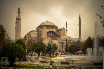 Hagia sophia exterior in Istanbul