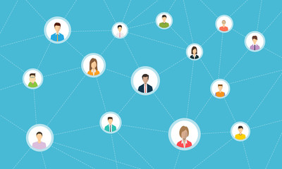 social network connection for online business
