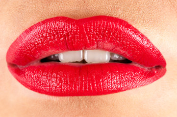 beauty lips closeup
