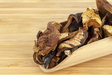 Wild dried mushrooms