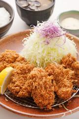 牡蠣フライとヒレカツ