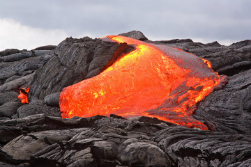 Lava flow (Hawaii, Kilauea Volcano)
