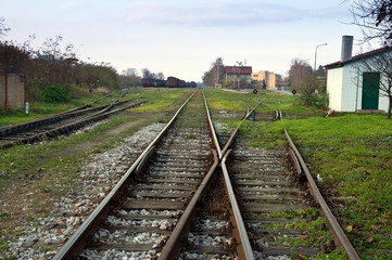 Two lines of railway track