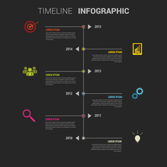 Colorful infographic template. Timeline. Vector