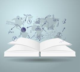 book diagram creative paper cut style template