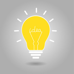 Idea vector illustration with bulb lamp