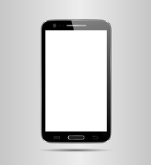 Smart phone, realistic vector illustration.