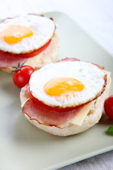 Egg muffins with bacon
