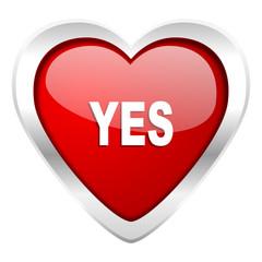 yes valentine icon