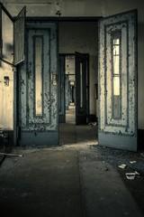Abandoned door interior