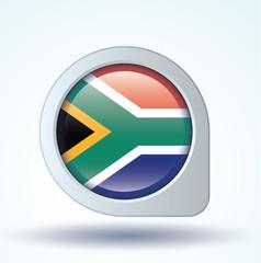 Flag set of South africa, vector illustration