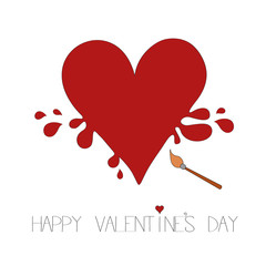 Happy valentine's day card vector