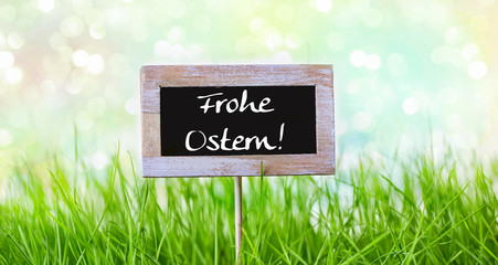 frohe ostern flyer