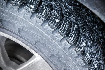Fragment of modern automotive wheel