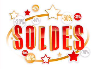 Soldes Gold & Red