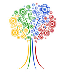 Abstract vector tree.