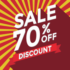 Sale 70% off discount