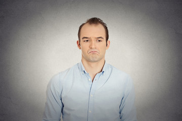 angry sad annoyed skeptical, grumpy business man