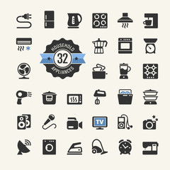 Web icon collection - household appliances