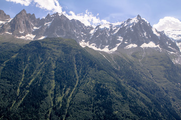 View to Mont Blanc and Glacier