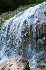 Falls in mountains of caucasus