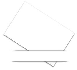 bandeau blanc sur bristol blanc