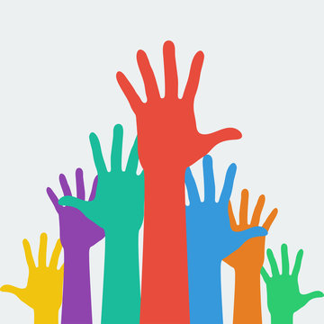 hands up career symbol