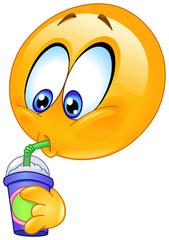 Drinking soda emoticon