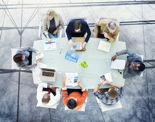 Brainstorming Planning Partnership Strategy Workstation Concept