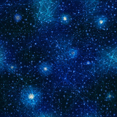Pattern of space, night sky.