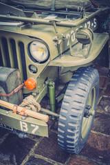 Détails jeep militaire US Army