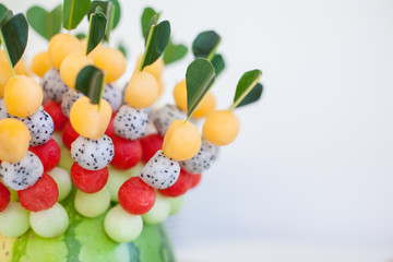 fruit canapes