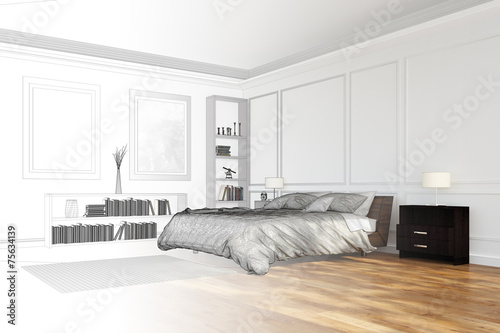 raumplaner f r schlafzimmer stockfotos und lizenzfreie bilder auf bild 75634139. Black Bedroom Furniture Sets. Home Design Ideas