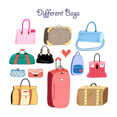 set of different bags