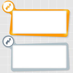 set of two text boxes for text and flash symbol