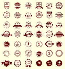 Vector Variety Designs Retro Vintage Badges