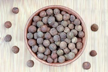 aromatic fragrant black pepper in a bowl