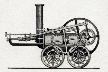 Coalbrookdale flywheel locomotive by Trevithick, 1804