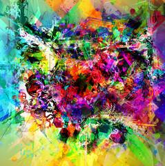 яркий абстрактный фон обложка