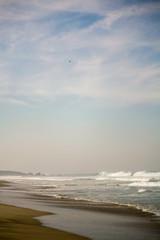 Zicatela beach and eagle in the sky Puerto Escondido Mexico