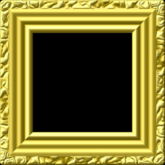Golden picture frame generated texture