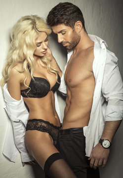 Young sexy undress couple
