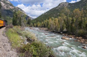 The Durango to Silverton Narrow Gauge Railway Colorado USA