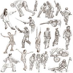 SPORT - full sized hand drawn illustrations