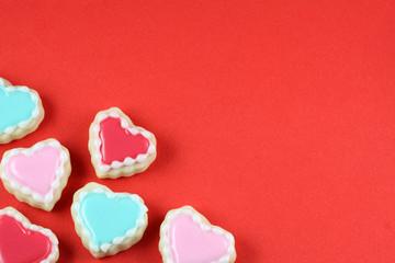 Valentine's Day Heart Cookie Background