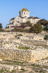Ancient town Chersonesus, Crimea, Russia