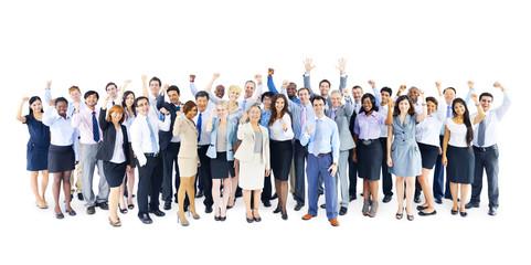 Fototapeta Large Group Business People Celebrating Team Concept