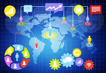 Communication Networking Internet Online Link Concept