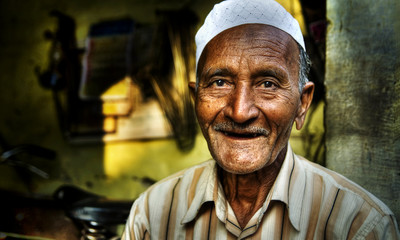 Happy Indian Man Smiling Camera Concept